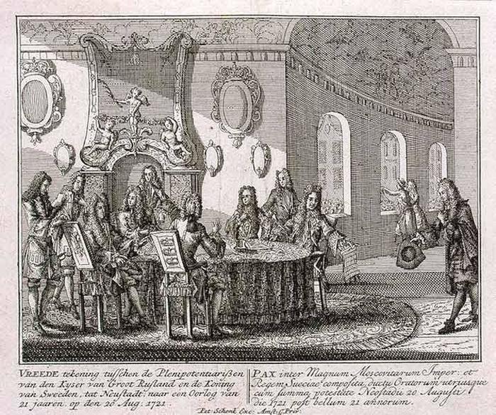 Россия в 1721 году купила у Швеции всю Прибалтику вместе с Лифляндией, Эстляндией, Ингрией и частью Карелии с Выборгом.