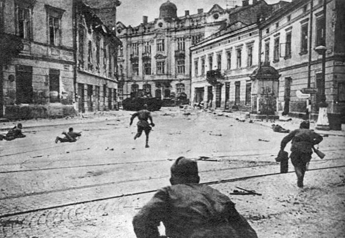 Бои на улицах Львова