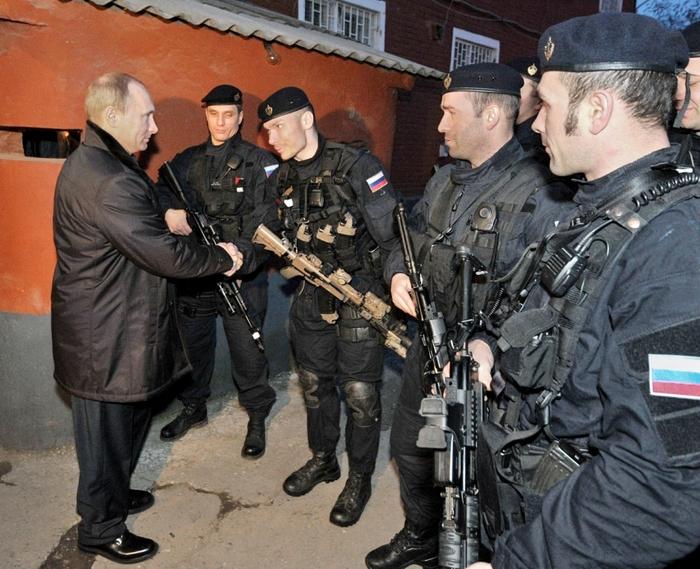 Встреча офицеров группы с президентом России