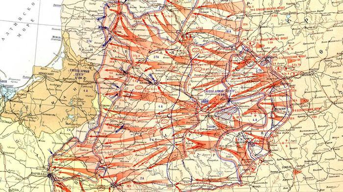 Карта операции «Багратион»