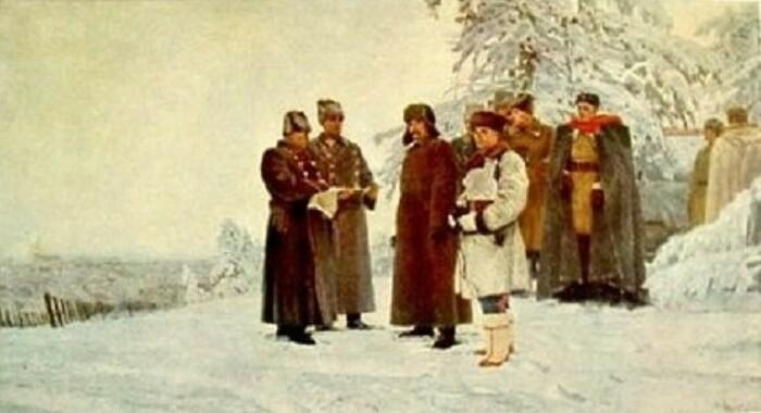 Картина Павла Соколова-Скали «Сталин на фронте под Москвой»