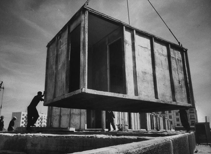 Один из проектов «хрущевок» предполагал строительство домов из крупноблочных секций