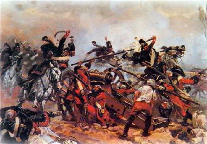 Атака гусар на артиллерийскую батарею