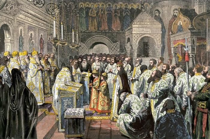 Венчание на царство Ивана и Петра Алексеевичей