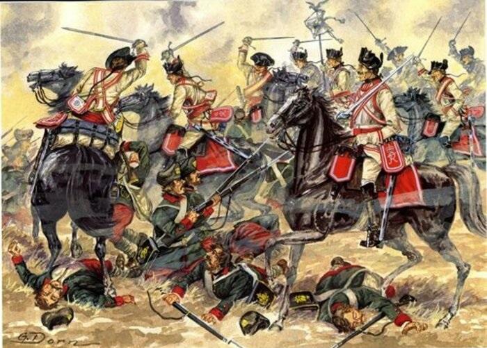 Атака прусских кирасир
