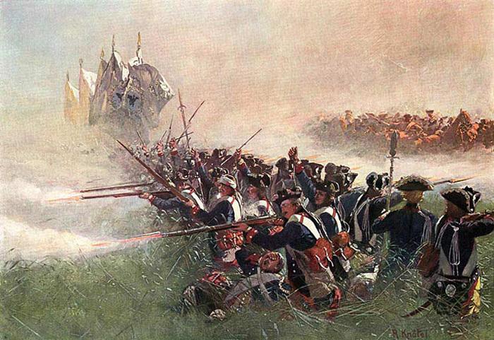 Прусская пехота в окружении