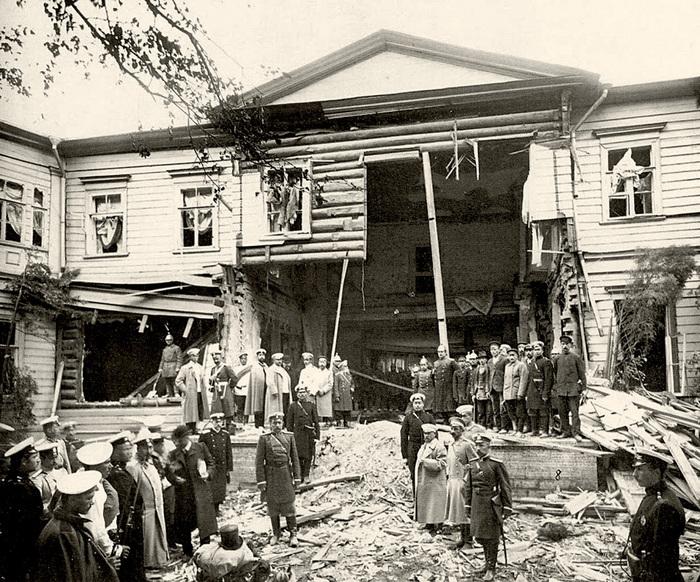 Дом П.А. Столыпина после взрыва