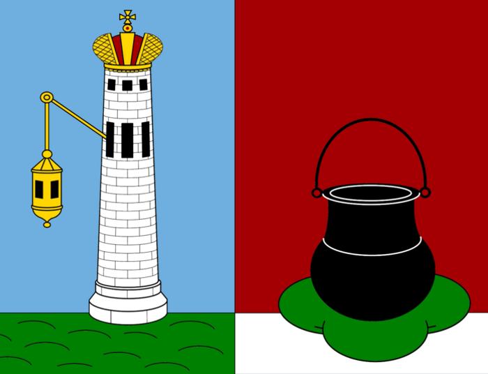Тот самый котелок на острове на современном гербе Кронштадта Файл: кронштадт-герб