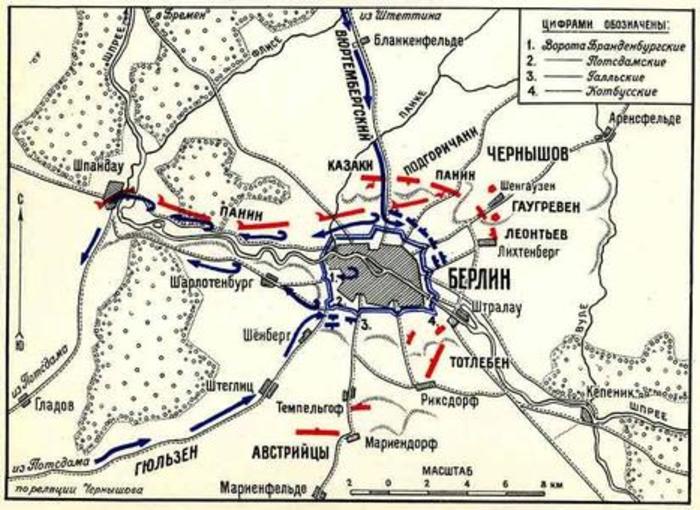 План захвата Берлина Русскими войсками