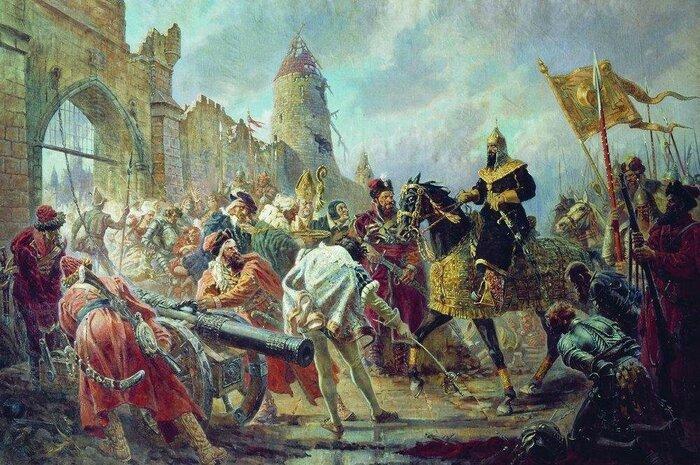 Взятие Иваном Грозным ливонской крепости Кокенгаузен.