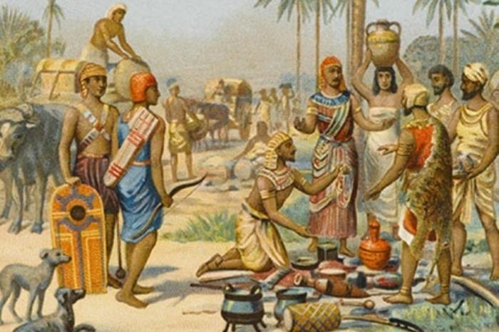 Египетские солдаты закупают продовольствие