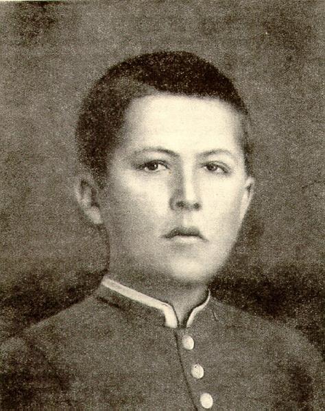 Гимназист Антон Чехов. Фотография 1874 года