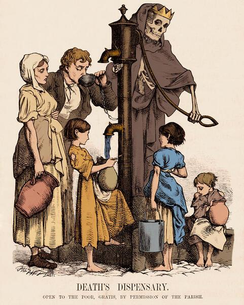 «На приеме у смерти». Художник Д. Пинвелл. 1866 год