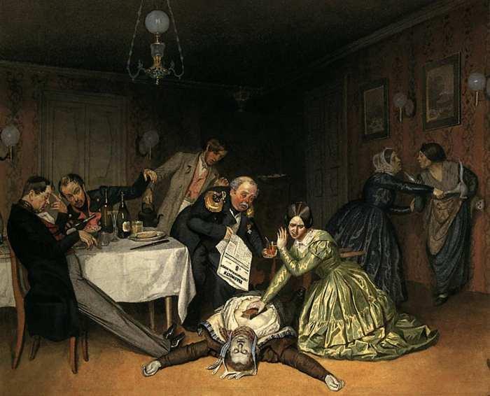 «Все холера виновата». Художник П.А. Федотов. 1848 год