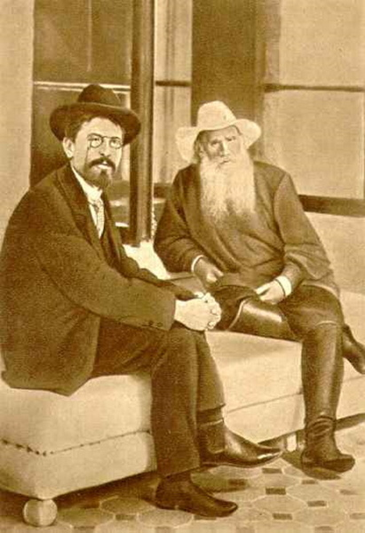 Антон Чехов и Лев Толстой в Гаспре, Крым, 1901 год
