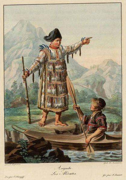 Представители племени алеутов