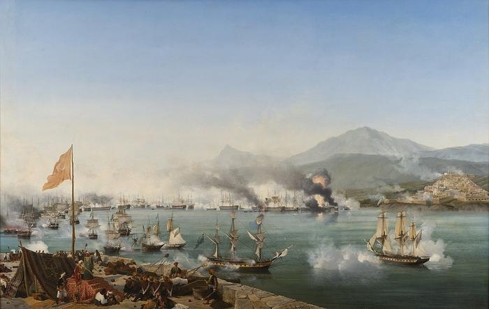 Амбруаз-Луи Гарнерэ. «Морское сражение при Наварине»